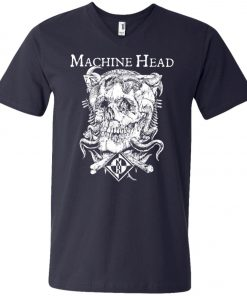 Skull Logo Machine Head V-Neck T-Shirt