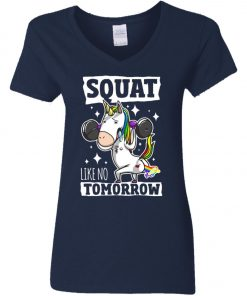 Gym Training Unicorn Women's V-Neck T-Shirt