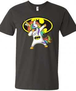 Unicorn Dabbing Batman V-Neck T-Shirt
