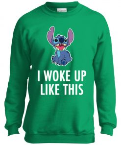 I Woke Up Like This Stitch Youth Sweatshirt