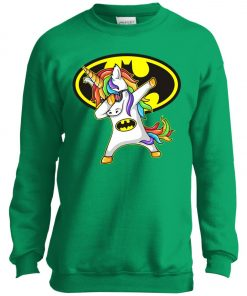 Unicorn Dabbing Batman Youth Sweatshirt