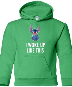 I Woke Up Like This Stitch Youth Hoodie