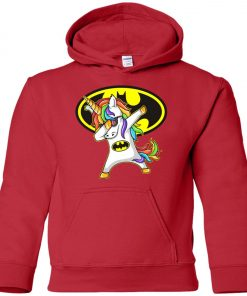 Unicorn Dabbing Batman Youth Hoodie