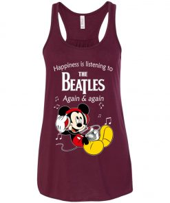 Mickey Listens To The Beatles Women's Tank Top