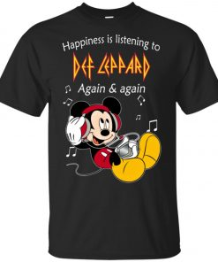 Mickey Listens To Def Leppard Unisex T-Shirt