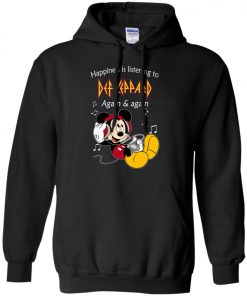 Mickey Listens To Def Leppard Pullover Hoodie