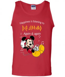 Mickey Listens To Def Leppard Tank Top