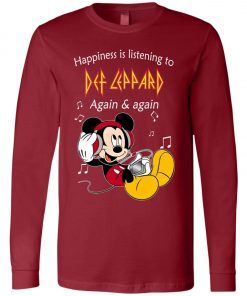 Mickey Listens To Def Leppard Long Sleeve
