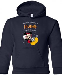 Mickey Listens To Def Leppard Youth Hoodie