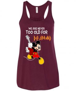 Mickey Never Too Old For Def Leppard Women's Tank Top