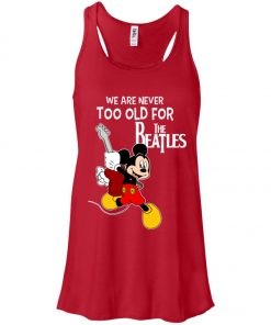 Mickey Never Too Old For The Beatles Women's Tank Top
