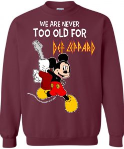 Mickey Never Too Old For Def Leppard Sweatshirt
