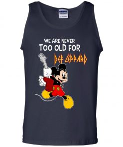 Mickey Never Too Old For Def Leppard Tank Top