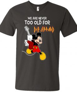 Mickey Never Too Old For Def Leppard V-Neck T-Shirt