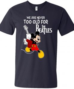 Mickey Never Too Old For The Beatles V-Neck T-Shirt