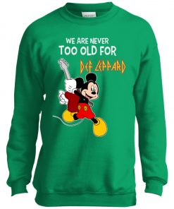Mickey Never Too Old For Def Leppard Youth Sweatshirt