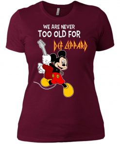 Mickey Never Too Old For Def Leppard Women's T-Shirt