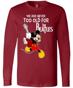 Mickey Never Too Old For The Beatles Long Sleeve