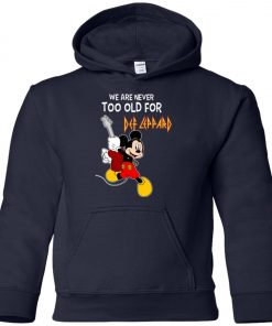 Mickey Never Too Old For Def Leppard Youth Hoodie