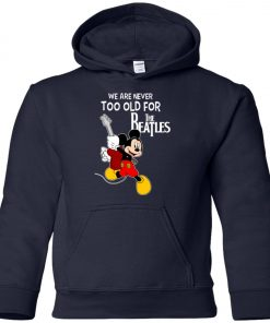 Mickey Never Too Old For The Beatles Youth Hoodie