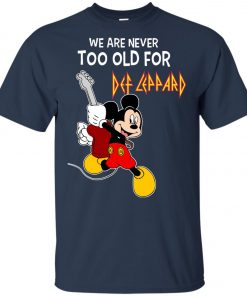 Mickey Never Too Old For Def Leppard Youth T-Shirt