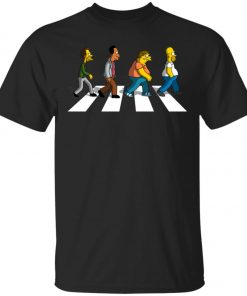 The Beatles Abbey Road The Simpsons Unisex T-Shirt
