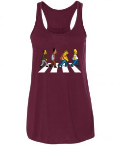 The Beatles Abbey Road The Simpsons Women's Tank Top
