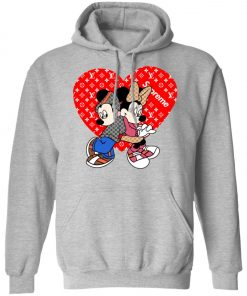 Supreme Louis Vuitton Mickey And Minnie Pullover Hoodie