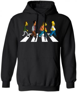 The Beatles Abbey Road The Simpsons Pullover Hoodie