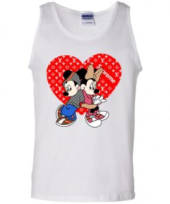 Supreme Louis Vuitton Mickey And Minnie Tank Top