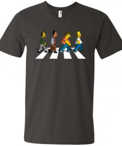 The Beatles Abbey Road The Simpsons V-Neck T-Shirt