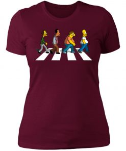 The Beatles Abbey Road The Simpsons Women's T-Shirt