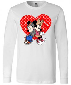 Supreme Louis Vuitton Mickey And Minnie Long Sleeve