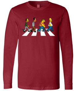 The Beatles Abbey Road The Simpsons Long Sleeve