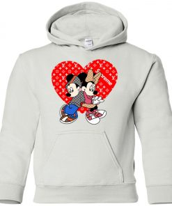 Supreme Louis Vuitton Mickey And Minnie Youth Hoodie