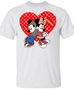 Supreme Louis Vuitton Mickey And Minnie Youth T-Shirt