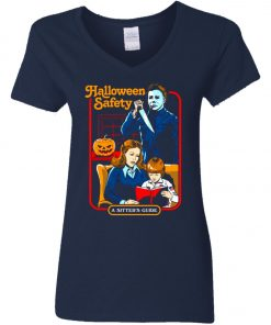 Michael Myers Halloween Safety A Sitter's Guide Women's V-Neck T-Shirt