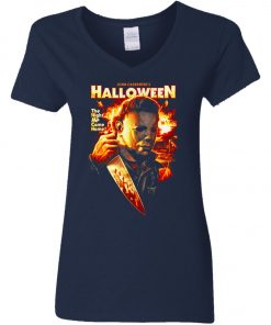 Michael Myers Halloween The Night He Came Home Women's V-Neck T-Shirt
