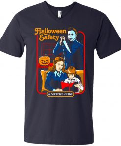 Michael Myers Halloween Safety A Sitter's Guide V-Neck T-Shirt
