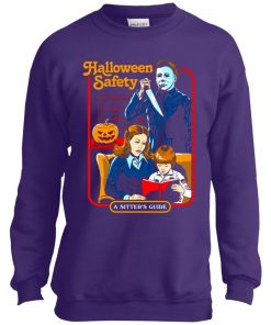 Michael Myers Halloween Safety A Sitter's Guide Youth Sweatshirt