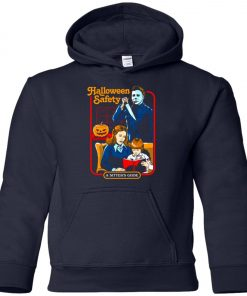 Michael Myers Halloween Safety A Sitter's Guide Youth Hoodie
