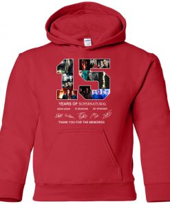 15 Years Of Supernatural Signature Premium Youth Hoodie