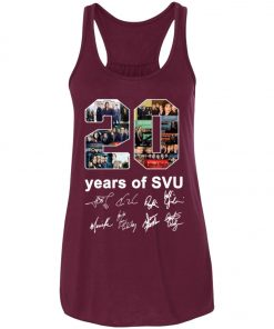 20 Years of Svu Law and Order All Signatures Women's Tank Top