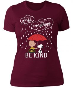 C harlie Brown And Snoopy Be Kind Women's T-Shirt