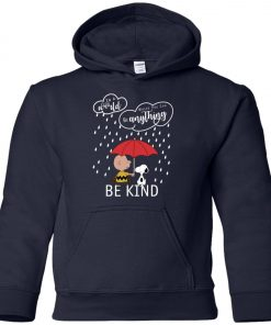 C harlie Brown And Snoopy Be Kind Premium Youth Hoodie