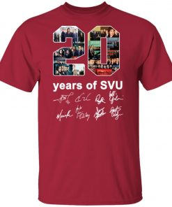 20 Years of Svu Law and Order All Signatures Unisex T-Shirt