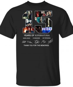 15 Years Of Supernatural Signature Unisex T-Shirt