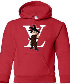 Dragonball x Louis Vuitton Son Goku Premium Youth Hoodie