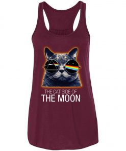 Pink Floyed Cat Side Of The Moon Women's Tank Top