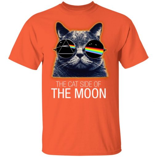 Pink Floyed Cat Side Of The Moon Unisex T-Shirt